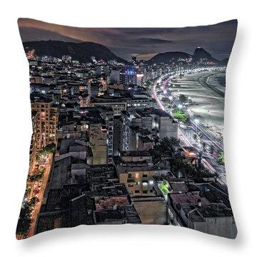 Copacabana Lights Throw Pillow