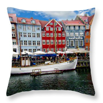 Copenhagen - Denmark Throw Pillow