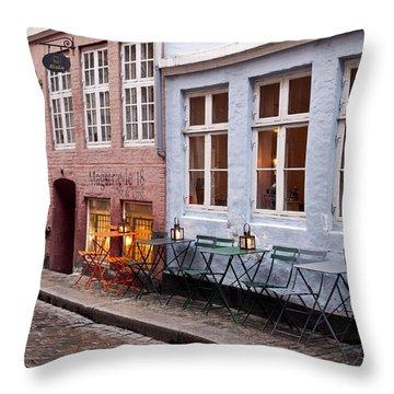 Copenhagen Patio Throw Pillow by Rae Tucker