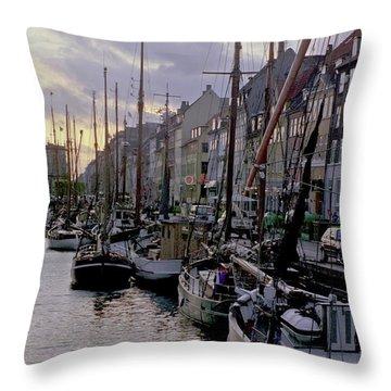 Copenhagen Quay Throw Pillow