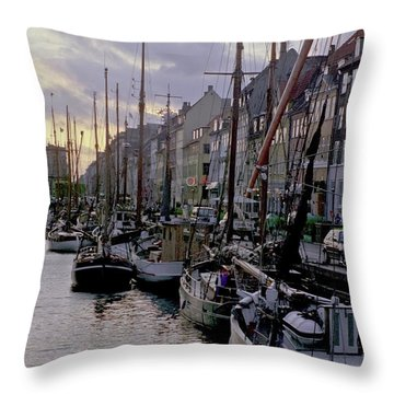 Copenhagen Quay Throw Pillow