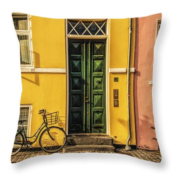 Copenhagen Transportation Throw Pillow