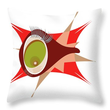 Copepod Throw Pillow
