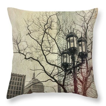 Throw Pillow featuring the photograph Copley Square - Boston by Joann Vitali