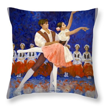 Coppelia Throw Pillow