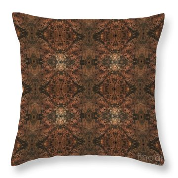 Copper Abstract 1 Throw Pillow