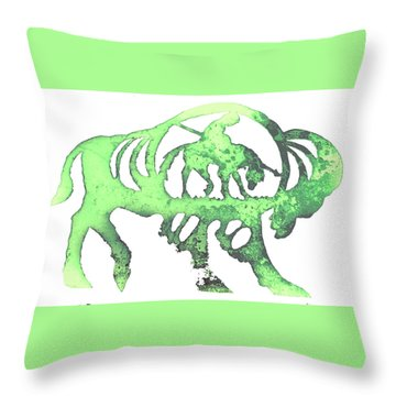 Copper Buffalo Throw Pillow