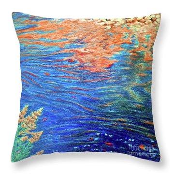 Copper Flow Throw Pillow