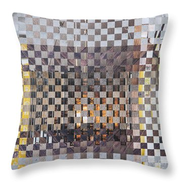 Throw Pillow featuring the mixed media Copper Glow by Jan Bickerton