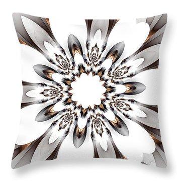 Copper Highlights Throw Pillow