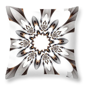 Copper Highlights Throw Pillow