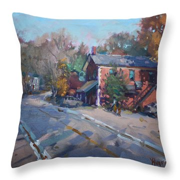Copper Kettle Pub In Glen Williams On Throw Pillow