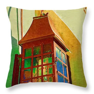 Copper Lantern Throw Pillow