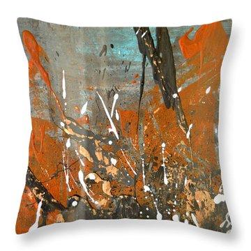 Copper Moon Throw Pillow