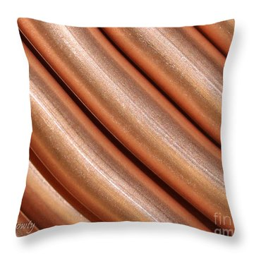 Copper Pipes Throw Pillow