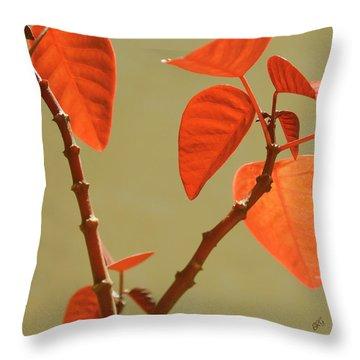 Copper Plant Throw Pillow