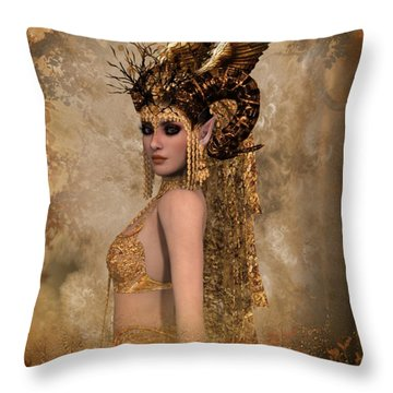 Copper Queen Throw Pillow