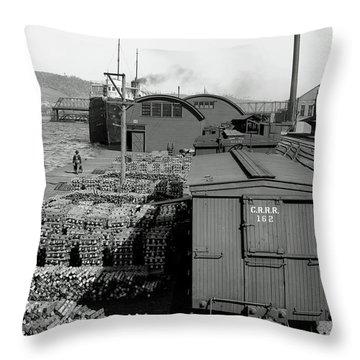 Copper Shipment - Houghton Michigan C1902 Throw Pillow