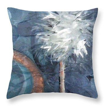 Copper Swirl Horizon Palm Throw Pillow