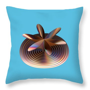 Copper Tones Throw Pillow by Linda Phelps
