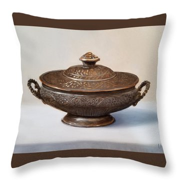 Copper Vessel Throw Pillow