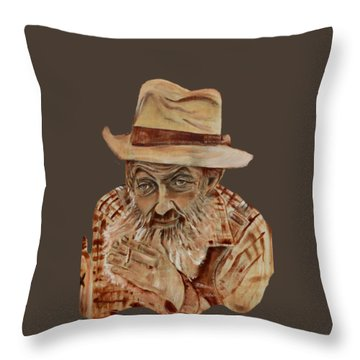Coppershine Popcorn Bust - T-shirt Transparency Throw Pillow