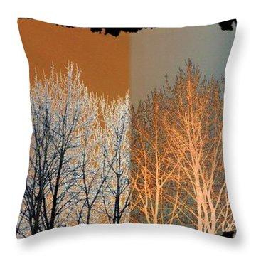 Coppertone Fusion Throw Pillow