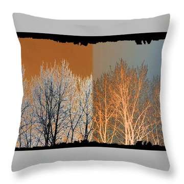 Throw Pillow featuring the digital art Coppertone Fusion by Will Borden