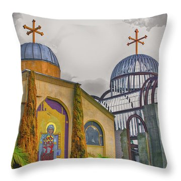 Coptic Church Rebirth Throw Pillow by Joseph Hollingsworth