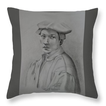 Copy After Michelangelo's Andreas Quaratesi Throw Pillow