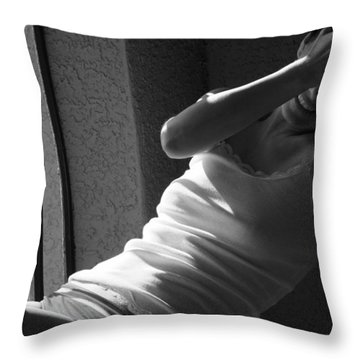 Coquettish Throw Pillow