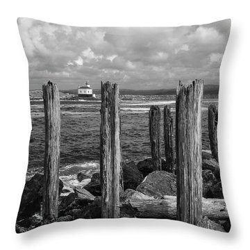 Coquille Lighthouse Throw Pillow