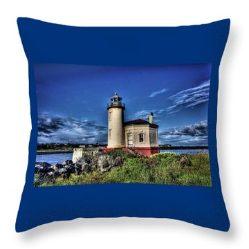 Coquille River Lighthouse Throw Pillow by Thom Zehrfeld