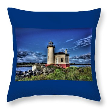 Throw Pillow featuring the photograph Coquille River Lighthouse by Thom Zehrfeld