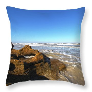 Coquina Beach Throw Pillow