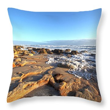 Coquina Carvings Throw Pillow by Robert Och