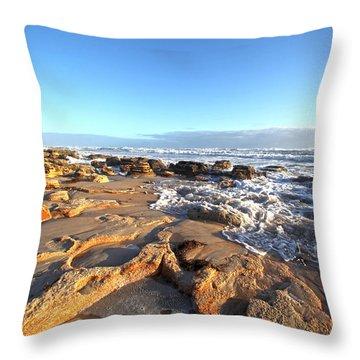Coquina Carvings Throw Pillow