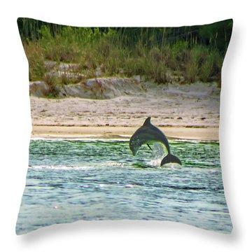 Coquina Dolphin Throw Pillow