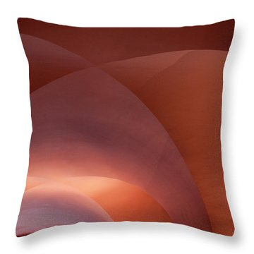 Coral Arched Ceiling Throw Pillow by Lorraine Devon Wilke