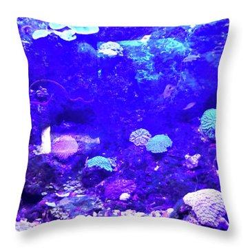 Throw Pillow featuring the digital art Coral Art 2 by Francesca Mackenney