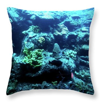 Throw Pillow featuring the photograph Coral Art 4 by Francesca Mackenney