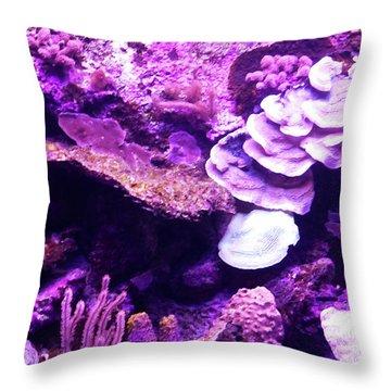 Throw Pillow featuring the digital art Coral Art 5 by Francesca Mackenney