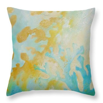 Coral Branches II Throw Pillow