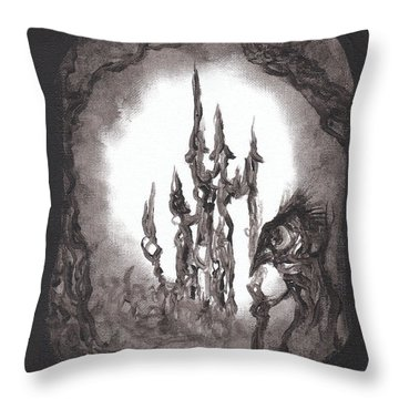 Coral Castle Throw Pillow