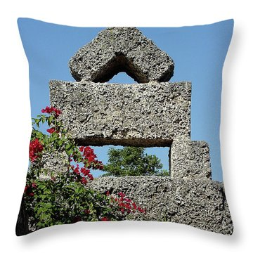 Coral Castle For Love Throw Pillow by Shirley Heyn