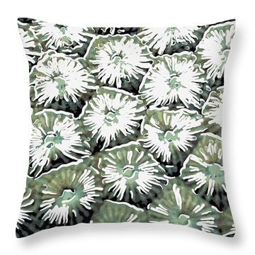 Coral Close Up  Throw Pillow by Lanjee Chee