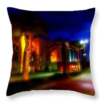 Coral Color Florida Throw Pillow