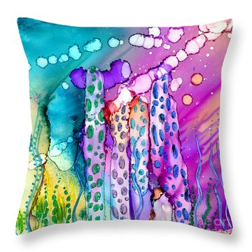 Coral Columns Throw Pillow