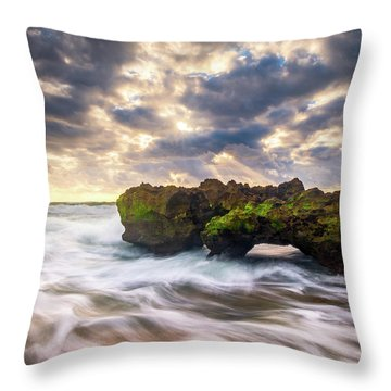 Coral Cove Jupiter Florida Seascape Beach Landscape Photography Throw Pillow