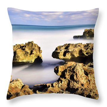 Coral Cove Seascape Throw Pillow